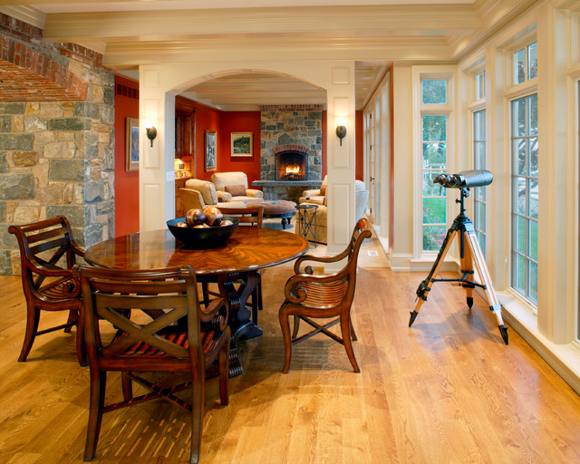 Private river house traditional dining room for Best private dining rooms in baltimore