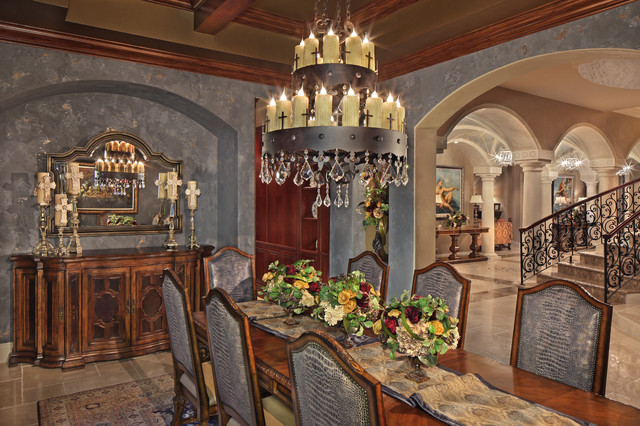 Private South Florida Residence Mediterranean Dining