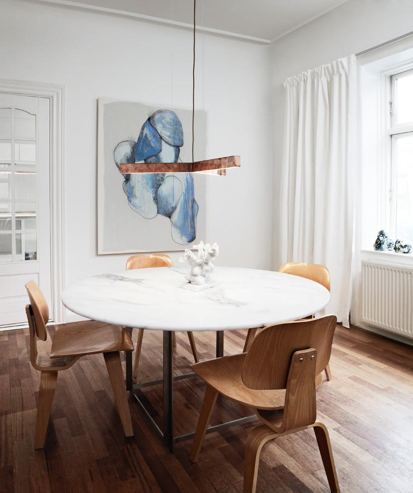 Inspiration for a scandinavian dining room in Copenhagen.