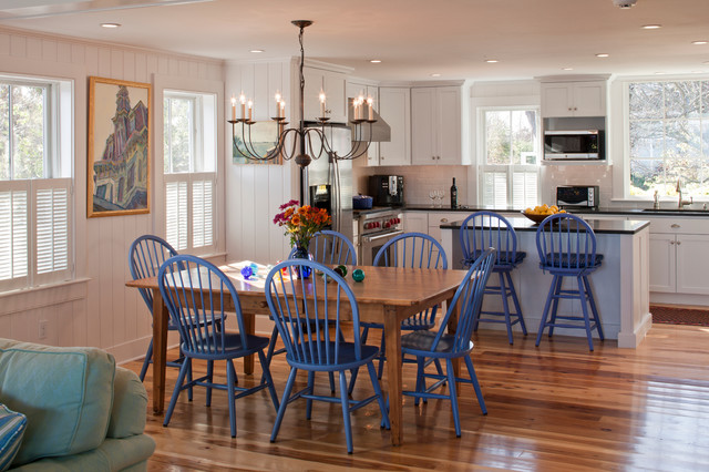 provincetown beach house beach style dining room boston by peter mcdonald architect. Black Bedroom Furniture Sets. Home Design Ideas