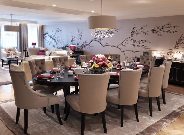 prunus in rusty contemporary-dining-room