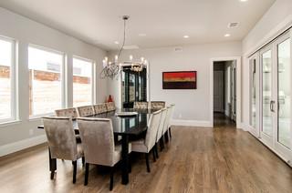 Purdue Custom Home Transitional Dining Room Dallas