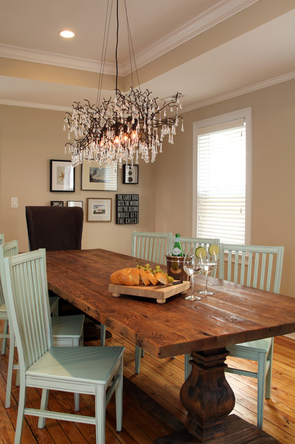 QMA: Renovation of a 100-year old duplex traditional-dining-room