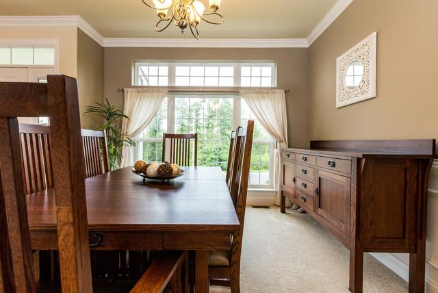 Quaker hill new home community model home dining room for Model home dining room