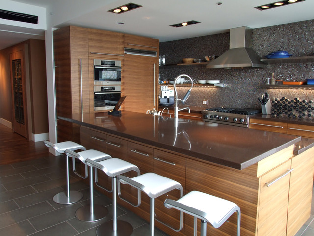 quater sawn walnut cabinets contemporary dining room