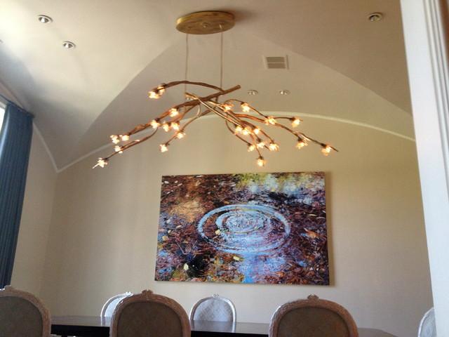 Quatro Lighting Allan Knight Design Transitional Dining Room