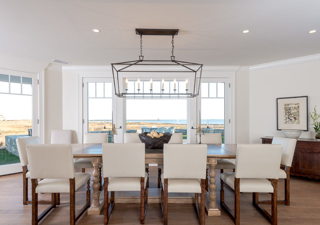 Queen Anne Shingle Style Beach House Dining Room