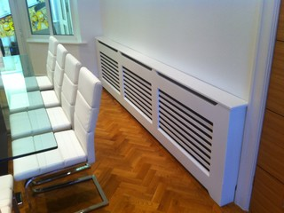 Radiator Covers - Contemporary - Dining Room - manchester UK - by Spaceworks Bespoke Joinery Ltd