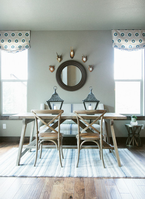Rainey Homes The Retreat Model Home Rustic Dining Room