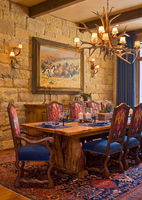 Ranch Rustic Dining Room Austin By Linda Mccalla Interiors