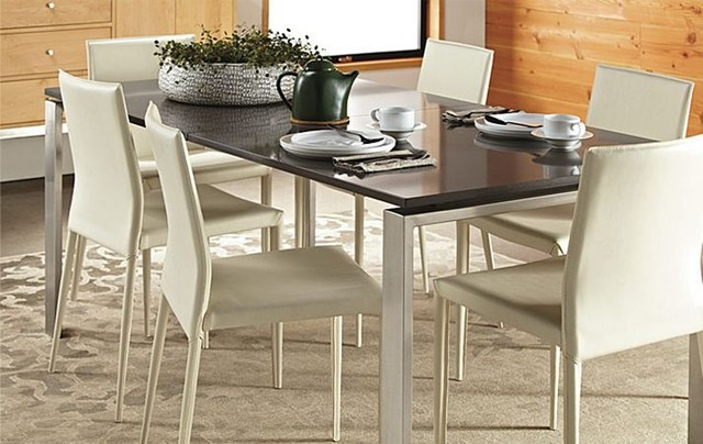 rand dining table, stainless steelr&b - modern - dining room ...