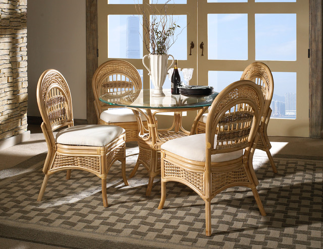 rattan furniture tropical dining room new york by wicker