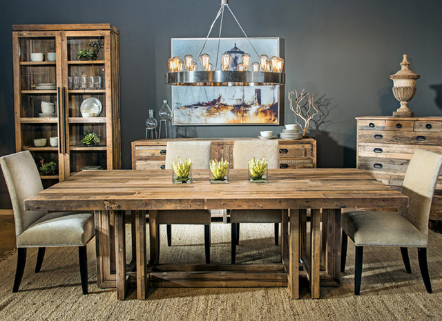 Reclaim Rustic - Contemporary - Dining Room - Houston - by High ...