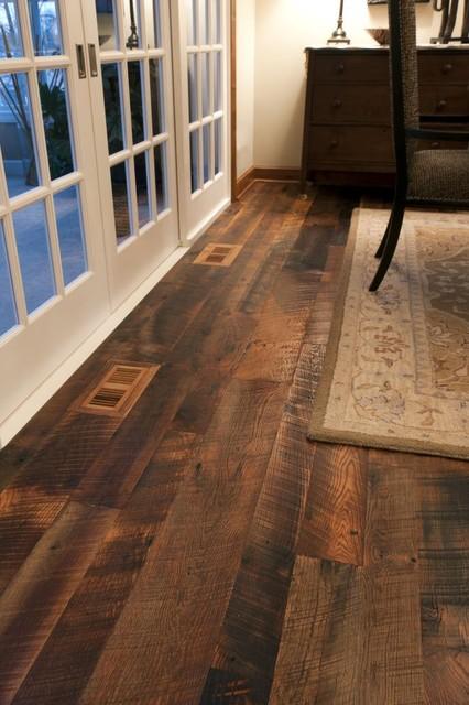 Reclaimed antique oak hit skip hardwood flooring for Reclaimed teak flooring