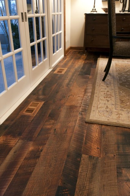Reclaimed Antique Oak Hit Skip Hardwood Flooring