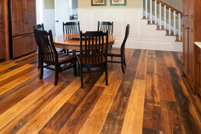 Reclaimed Antique Wormy Chestnut Hardwood Flooring - Traditional - Dining Room - other metro ...