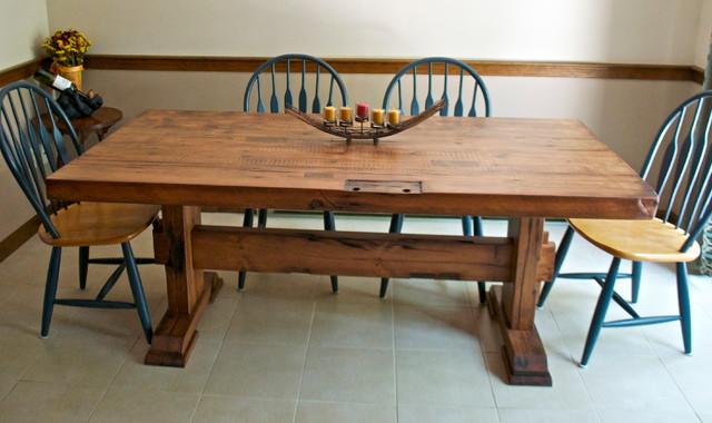 Reclaimed Barn Door Dining Table