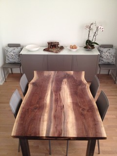 dining table modern dining room toronto by urban tree salvage