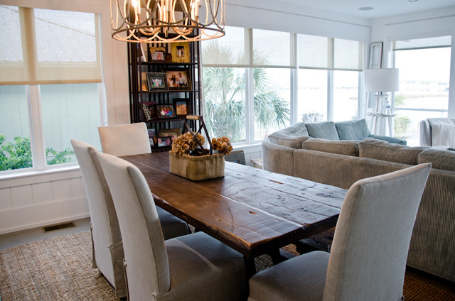 Genial Reclaimed Dining Table/ OBA Project   Beach Style   Dining ...