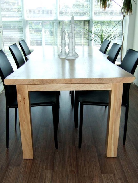 Reclaimed Live Edge Ash Kitchen Table Contemporary Dining Room Toronto