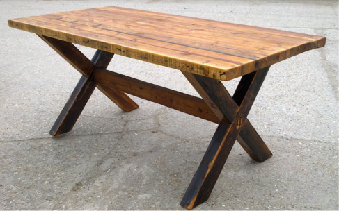 Reclaimed wood dining tables cross leg by modish living reclaimed wood dining tables cross leg by modish living rustic dining room watchthetrailerfo