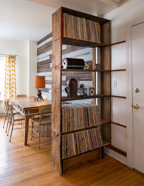 Reclaimed Wood Record Shelf   Eclectic   Dining Room   Chicago .