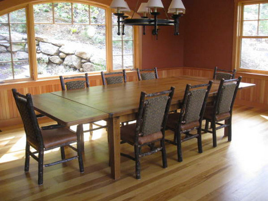Reclaimed wood table with extensions farmhouse dining Table extenders dining room