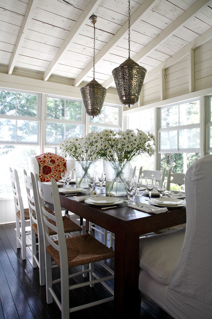 red cottage beach style dining room other by lisa stevens company inc. Black Bedroom Furniture Sets. Home Design Ideas