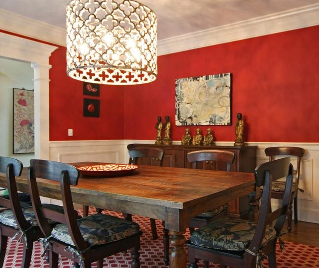 Red Dining Room eclectic-dining-room