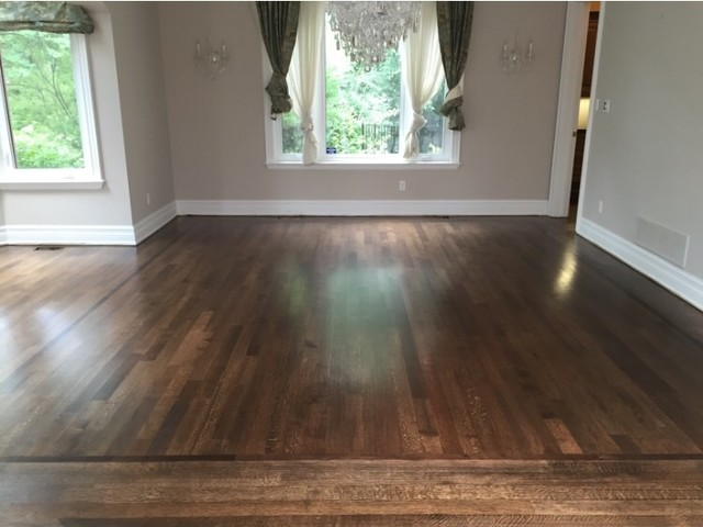Red Oak rift and quarter sawn finished with a dark walnut  : dining room from www.houzz.com size 640 x 480 jpeg 58kB