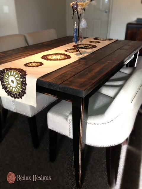 Refinished Dining Room Table - Contemporary - Dining Room - Miami ...