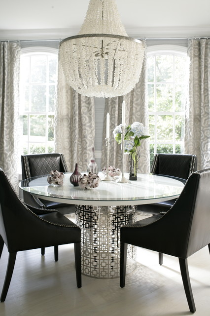 Remodeling Luxe Contemporary Dining Room Raleigh