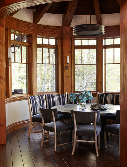 Renovated mountain retreat rustic dining room other for Dining room 56 willoughby street