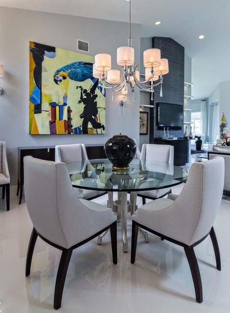 Renovation Admirals Cove Condo - Contemporary - Dining Room - Miami ...