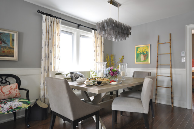 Renovation semi detached house eclectic dining room Interior design idea for semi d house
