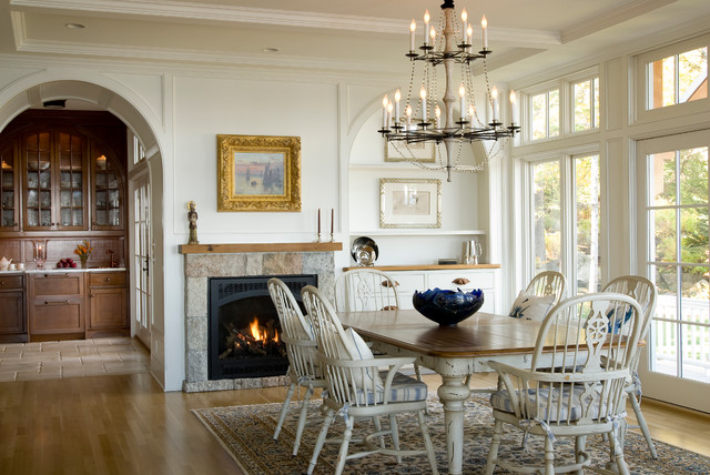 renovation to a maine seaside home traditional dining