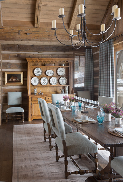 Residence at Roaring Fork Ranch rustic-dining-room