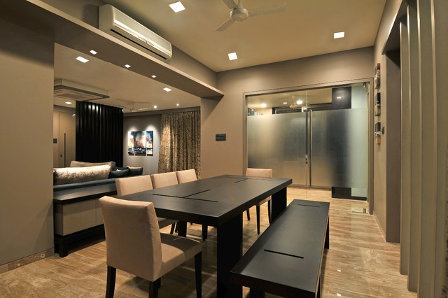Residence in bandra mumbai india contemporary dining for Latest dining room designs
