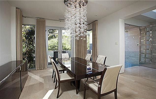 Example Of A Minimalist Dining Room Design In Orange County