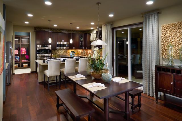 Ryland model homes traditional dining room denver for Model home dining room
