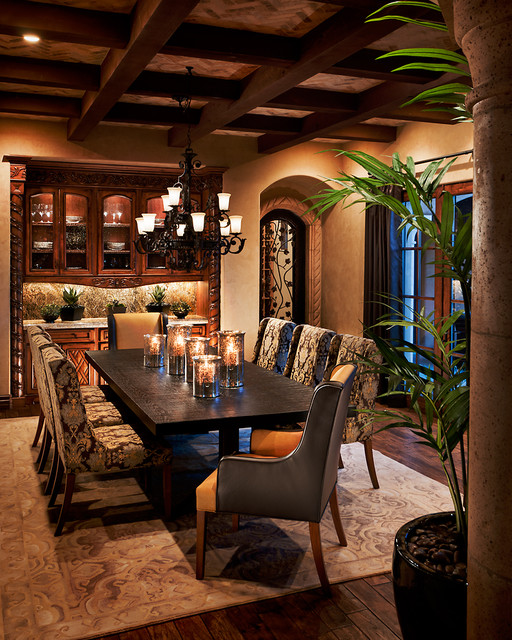 Residential traditional dining room