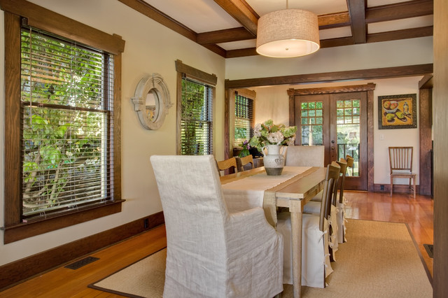 Residential transitional-dining-room