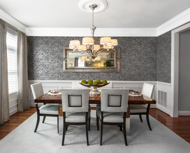 Reston virginia modern northern virginia residence for Best transitional dining rooms