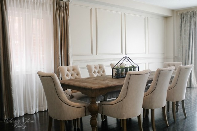 Restoration Hardware Inspired DIY Wainscoting U0026 Chair Rail Traditional  Dining Room
