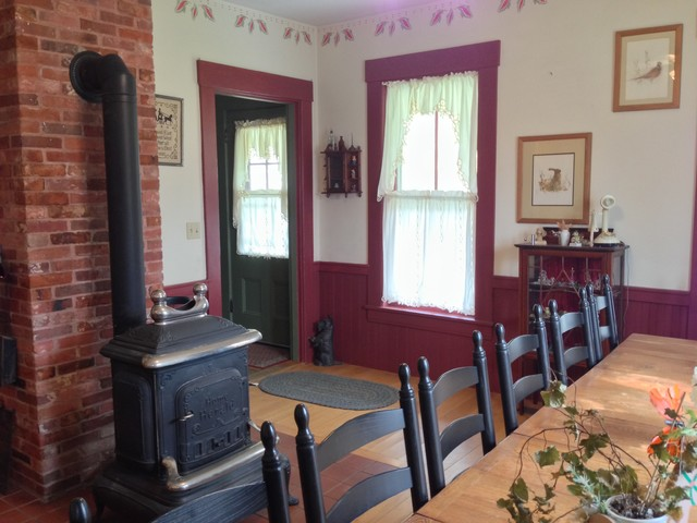 Restored antique wood stove - by Stanley Ironworks, Nashua, NH.  country-dining - Restored Antique Wood Stove - By Stanley Ironworks, Nashua, NH.