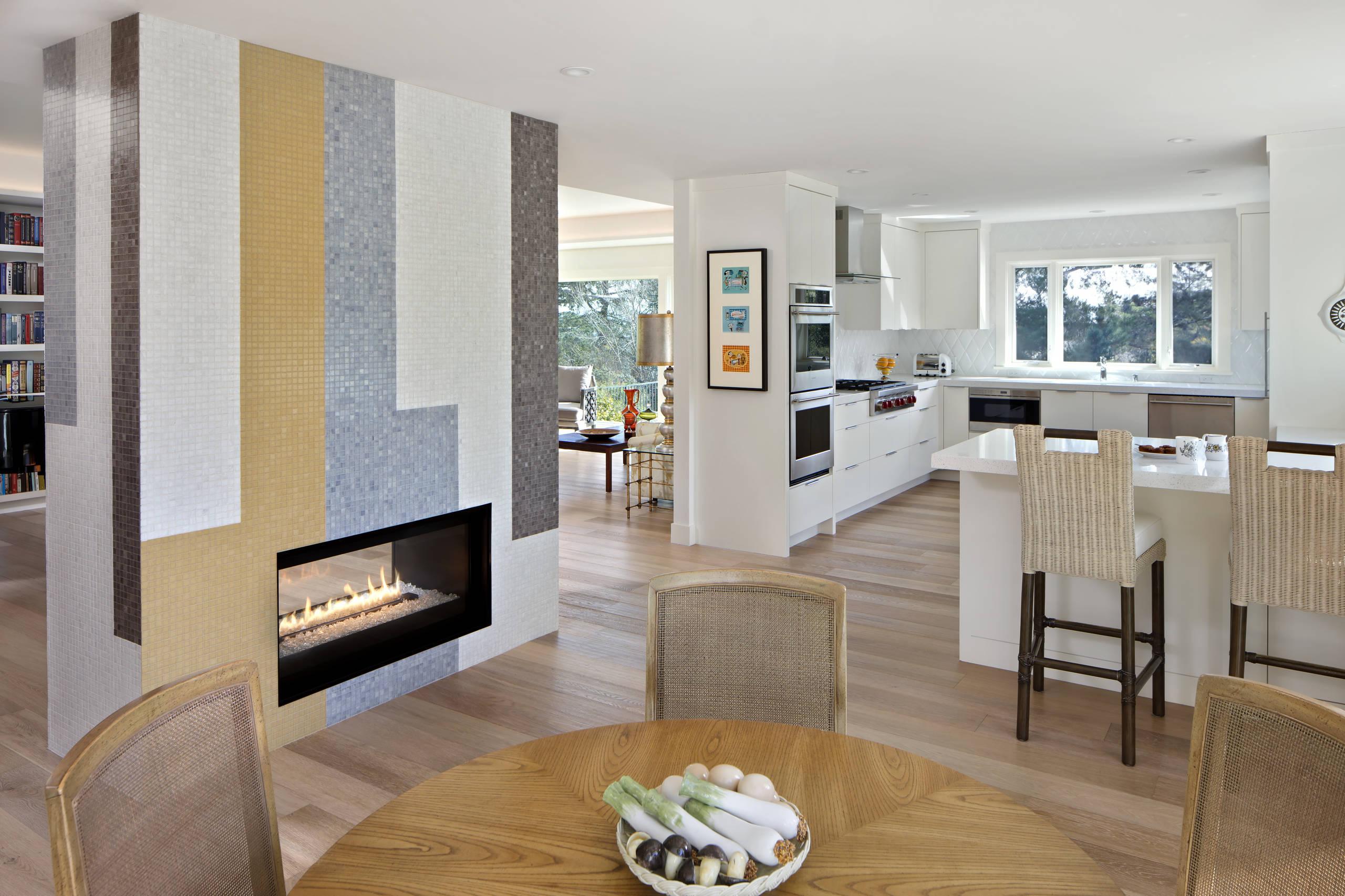 Retro modern open-plan kitchen & dining