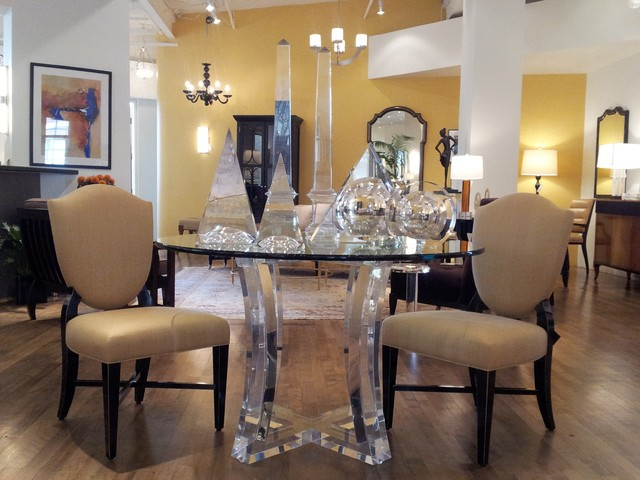 ribbon crescent games table eclectic dining room acrylic furniture toronto