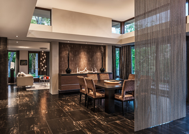 River Bluff Residence contemporary-dining-room