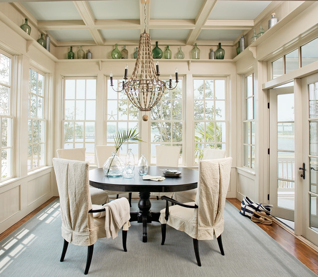 River dunes captain 39 s house traditional dining room by historical concepts - Sunroom dining room ...