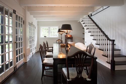 Are The Handrails And Stair Treads Black Stain Or Paint?